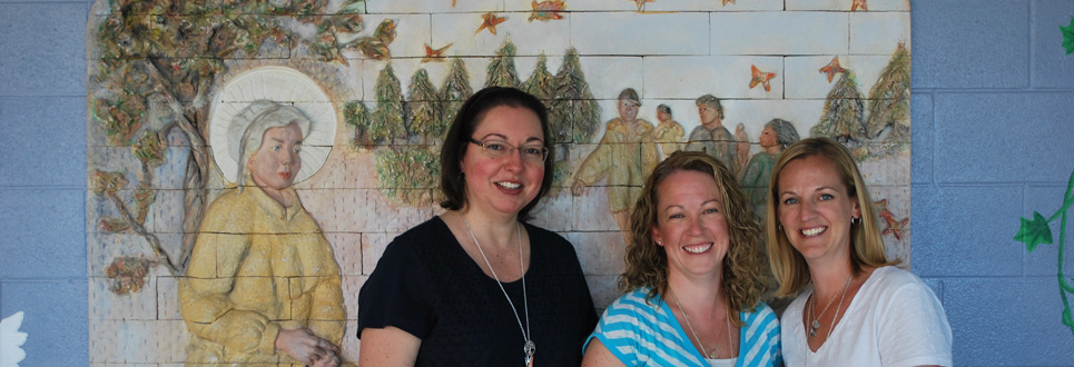 Three members of the St. Elizabeth Seton Catholic School parent council